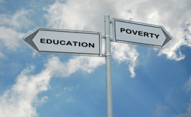 Education-poverty-arrow